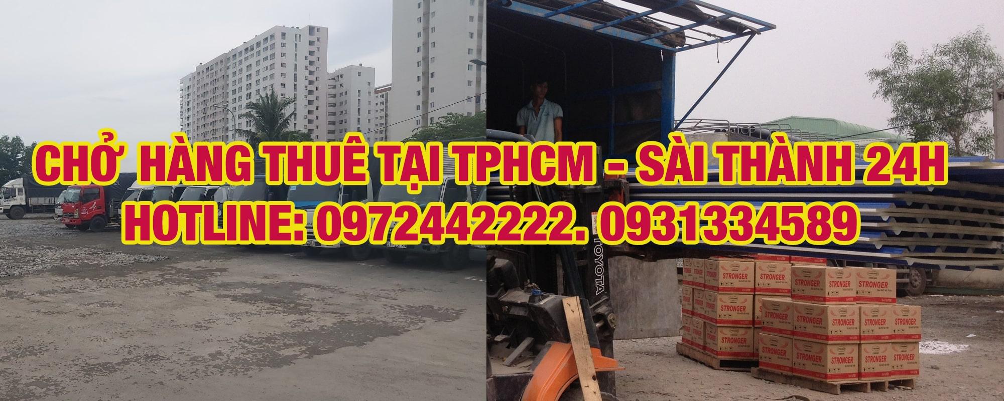 Dịch vụ vận chuyển- cho thuê xe tải chở hàng