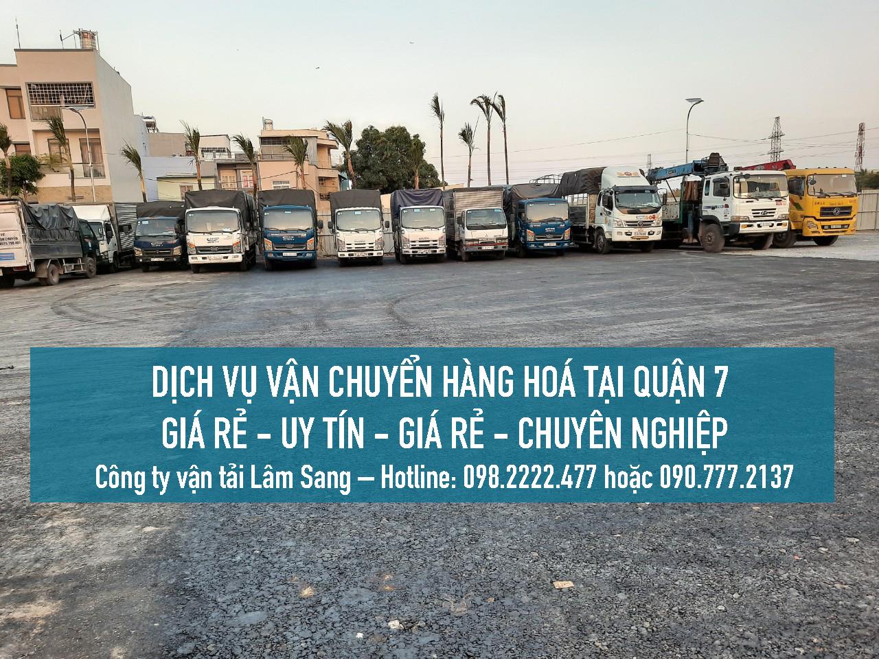 Xe tải nhỏ chở hàng Quận 7 - giá rẻ và uy tín tại công ty vận tải Lâm Sang
