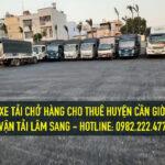 Cho thuê xe tải chở hàng giá rẻ tại huyện cần giờ