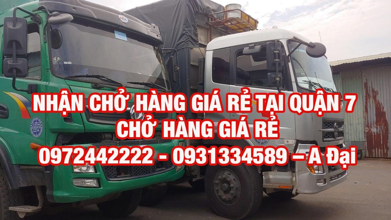 Xe tải chở hàng Quận 7 giá rẻ - công ty vận tải Sài Thành