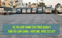 Cho thuê xe tải nhỏ chở hàng giá rẻ tại quận 9 - Cty vận chuyển hàng hoá Lâm Sang