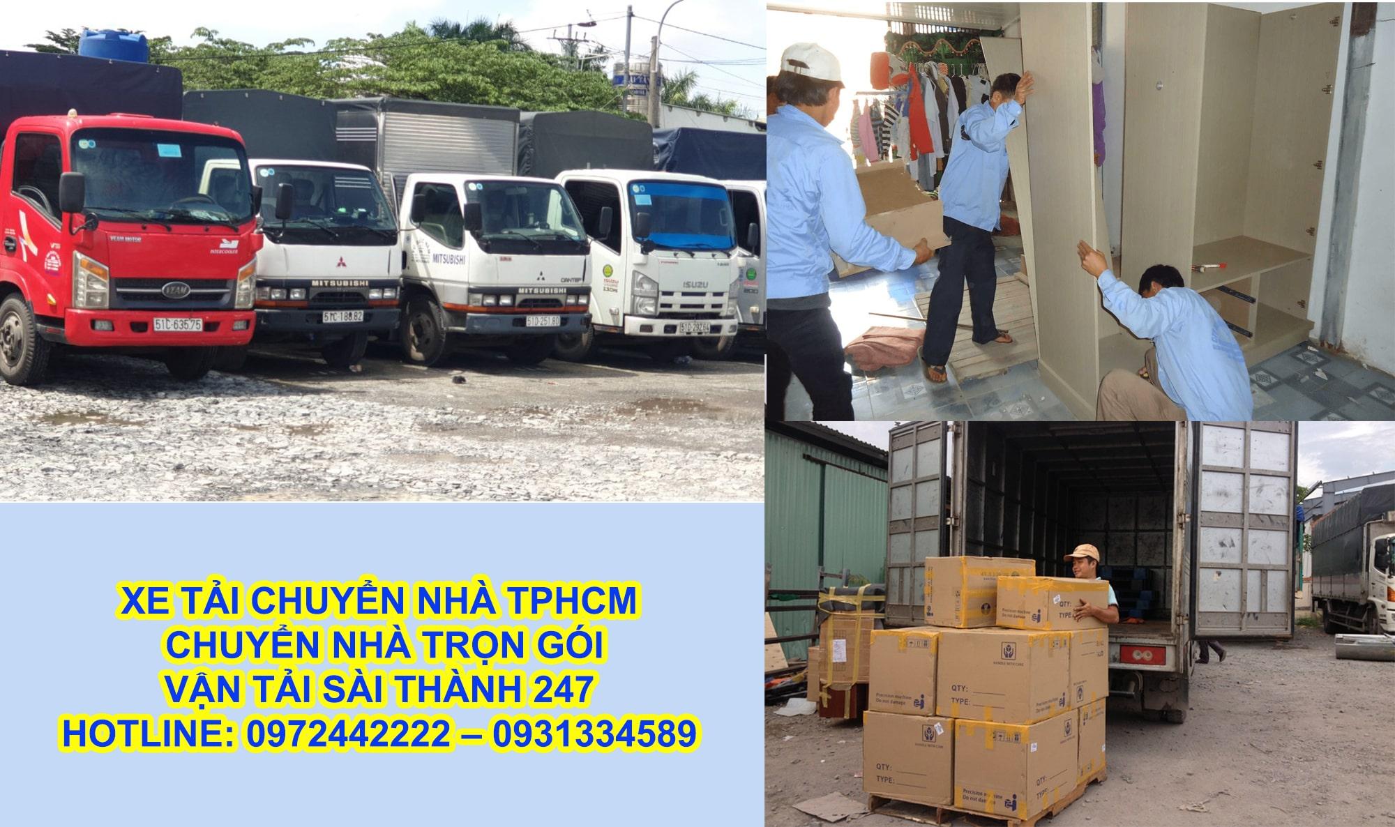 Xe tải chuyển nhà tphcm giá rẻ - có mặt sau 30 phút