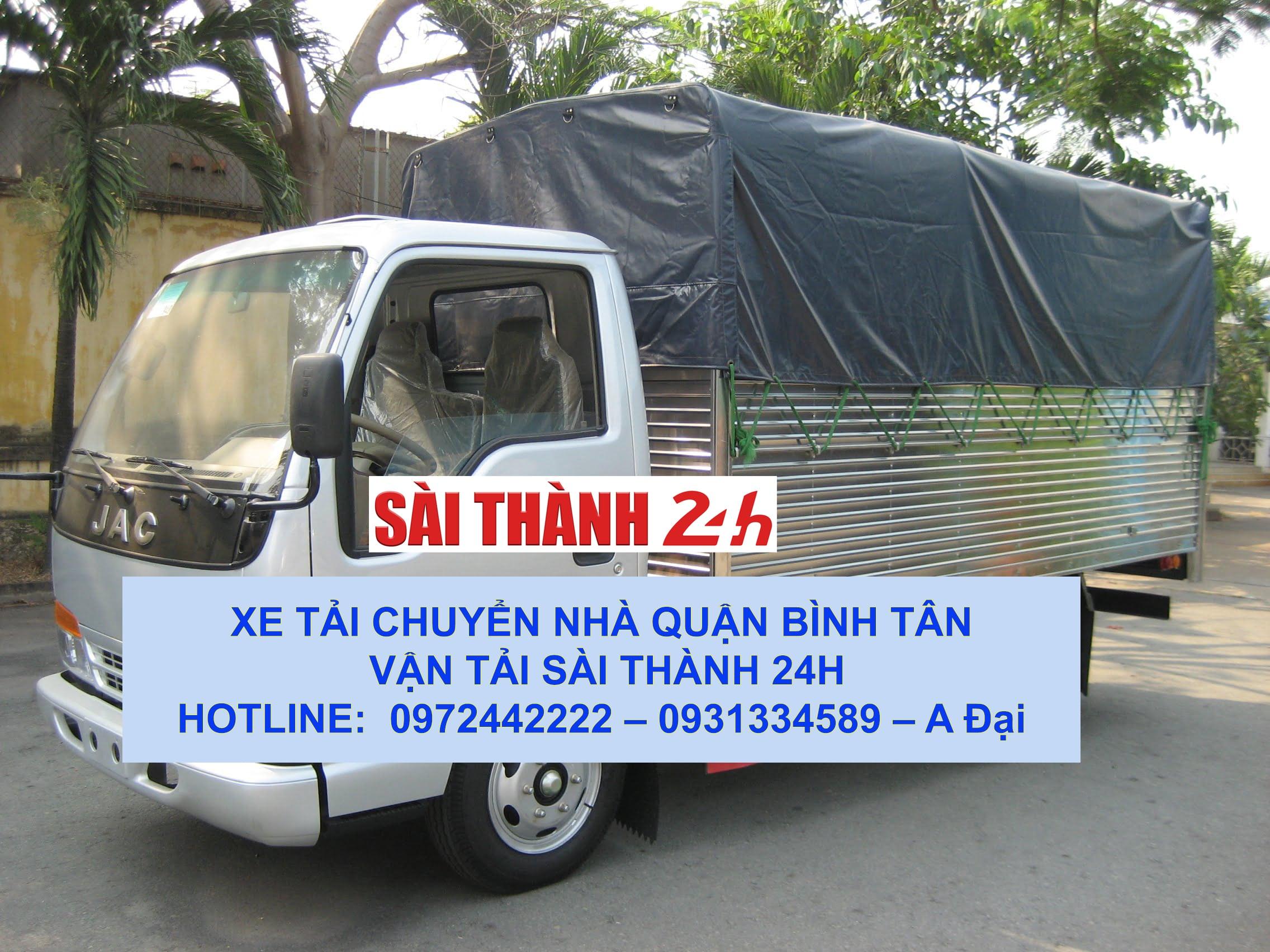Xe tải chở hàng chuyển nhà trọn gói tại quận Bình Tân